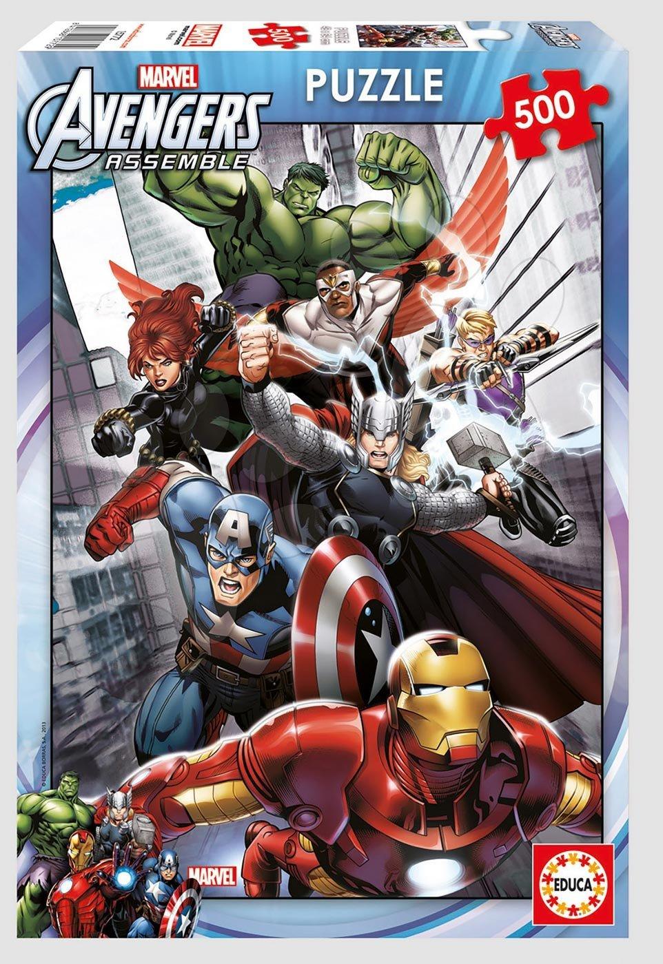 Puzzle 500 dielne - Puzzle Marvel Avengers Educa 500 dielov od 11 rokov