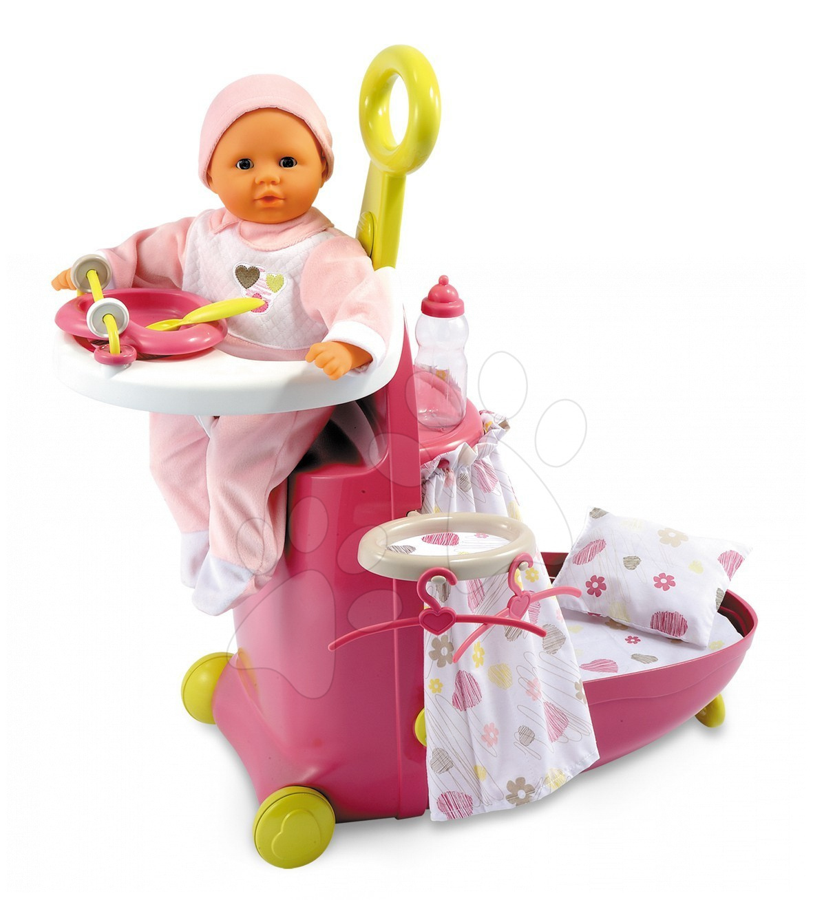 Smoby 024536 Baby Nurse vozík opatrovanie, , 24*61*47 cm od 18 mes
