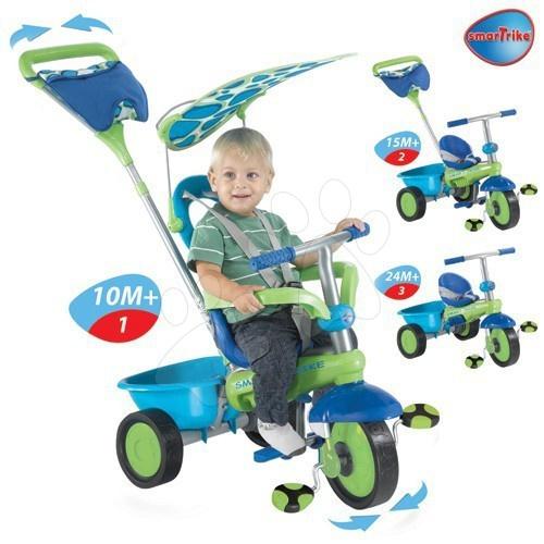 Trojkolky od 10 mesiacov - Trojkolka Plus Fresh smarTrike zeleno-modrá od 10 mes