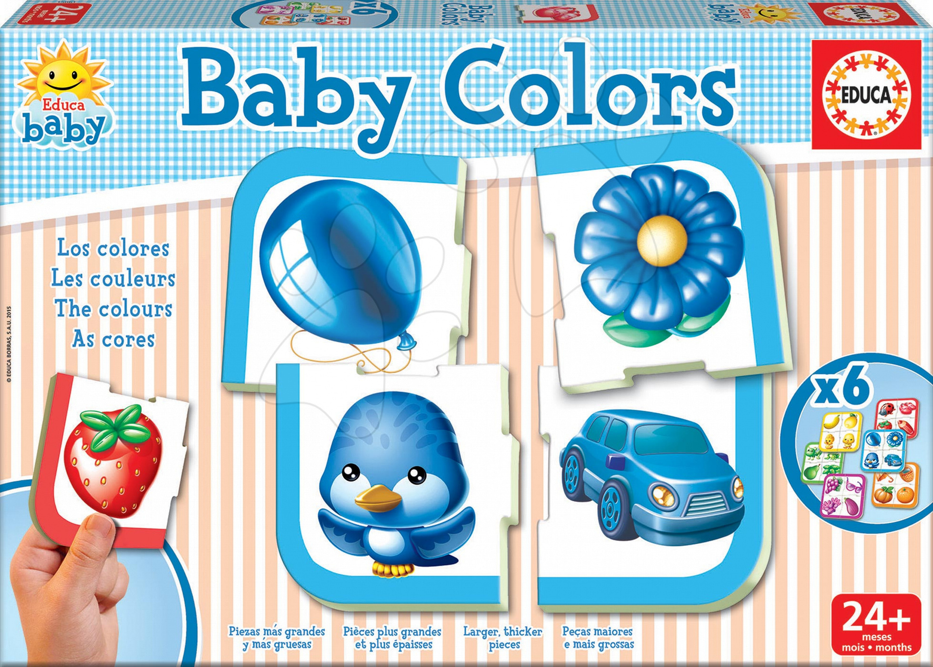 Puzzle Baby Colors Barvy Educa 24 dílů od 24 měsíců
