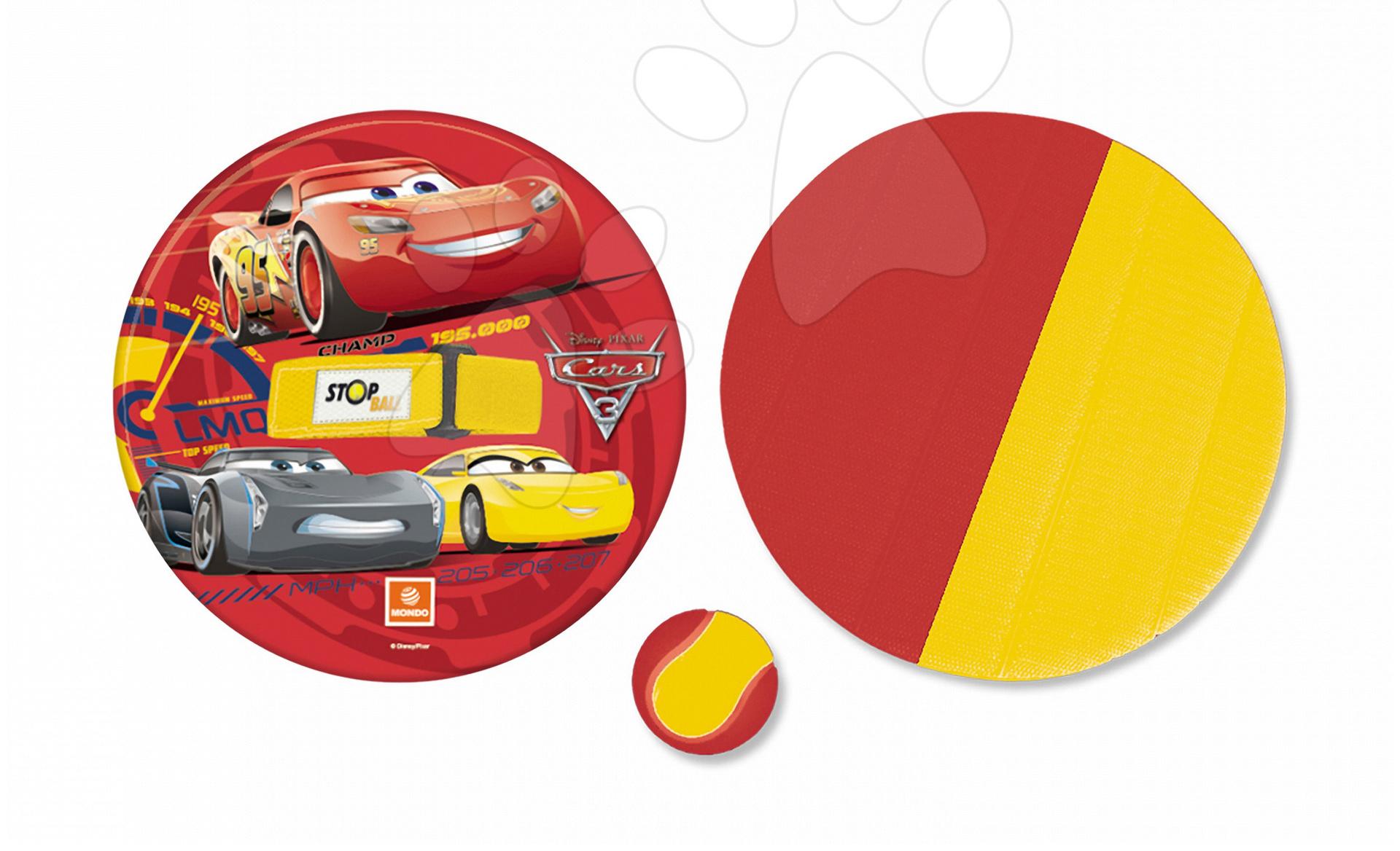 Športové hry pre najmenších - Hra Autá Stop Ball Mondo na suchý zips