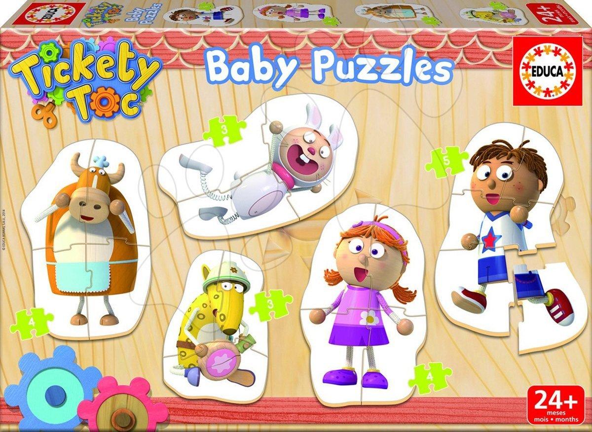 Baby puzzle Zvířátka Tickety Toc Educa 5obrázkové od 24 měsíců