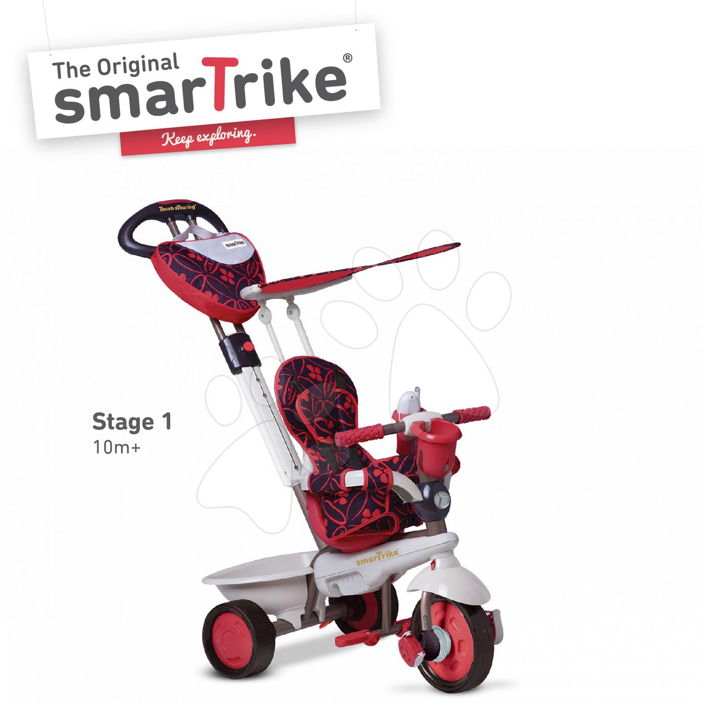 Tricicletă Dream Team Red Touch Steering 4in1 smarTrike roşu-gri de la vârsta de 10 luni