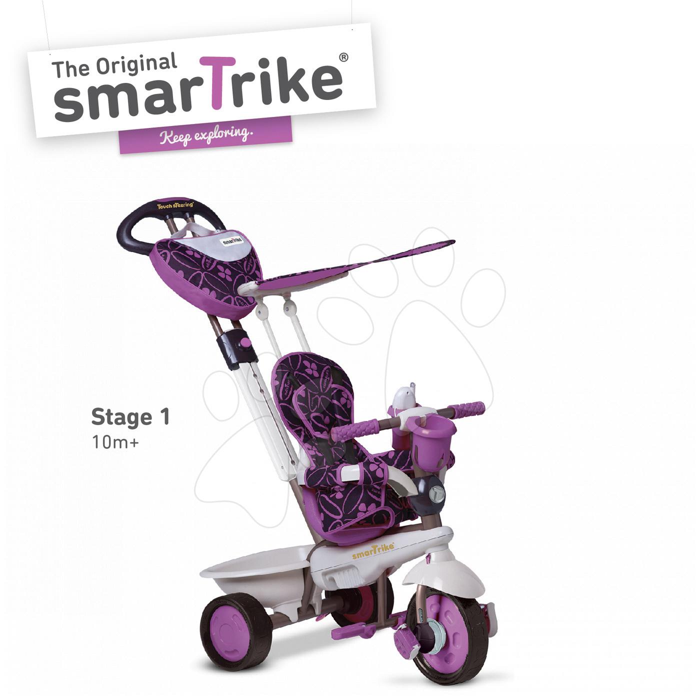 Tricicletă Dream Team Purple Touch Steering 4in1 smarTrike mov-gri de la vârsta de 10 luni