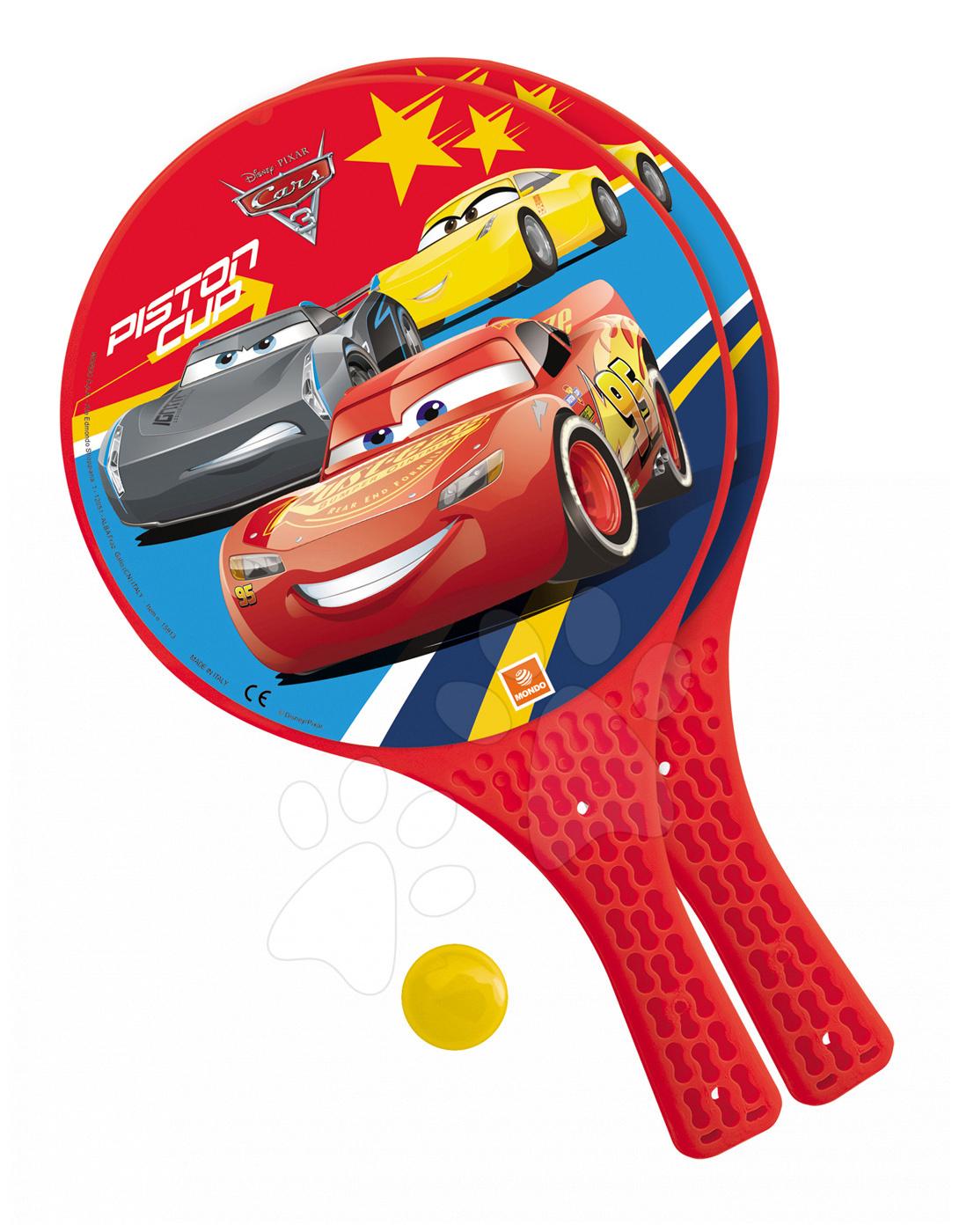 Plážový tenis set Autá Mondo s 2 raketami a loptičkou