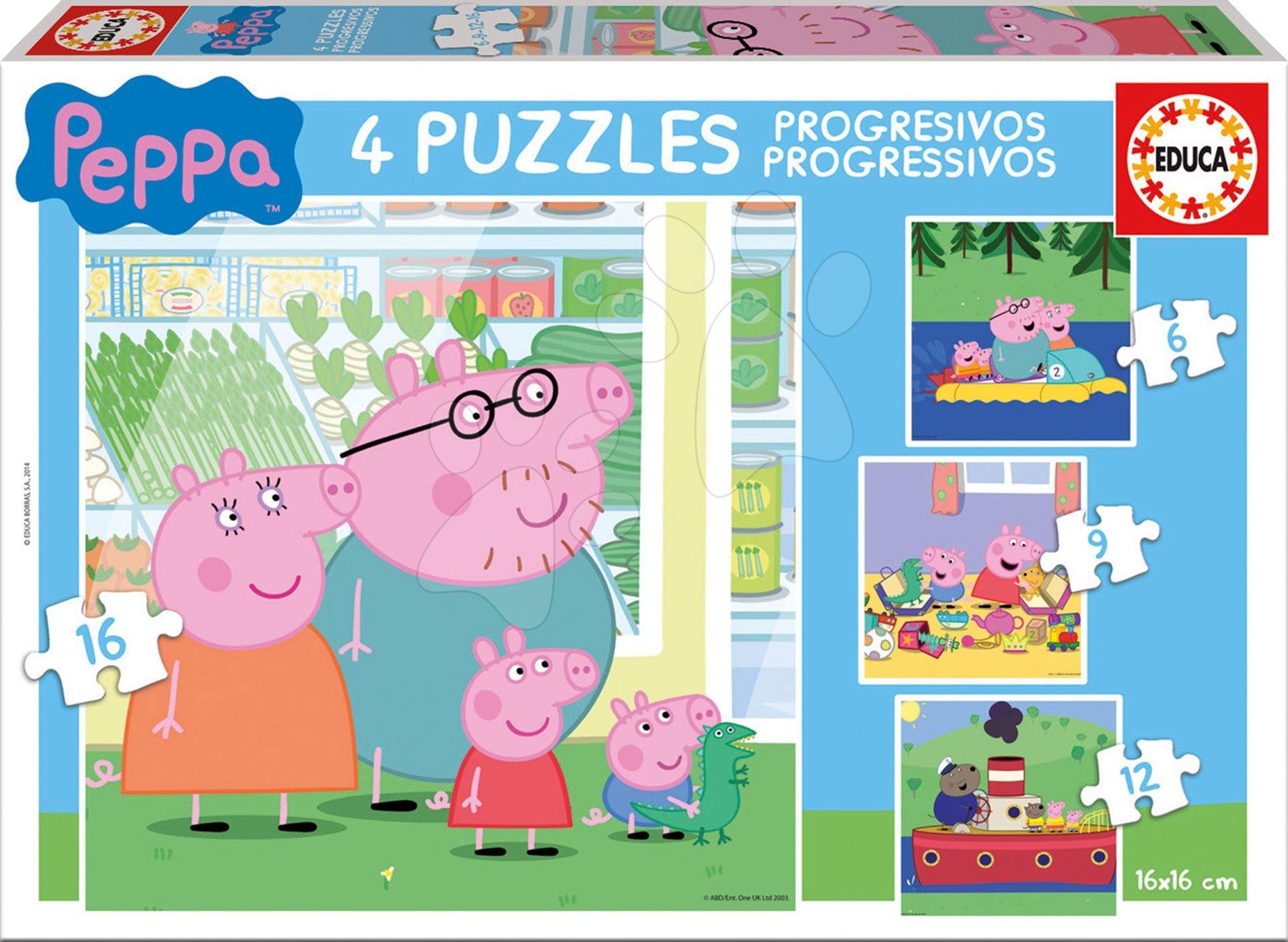 495d56714 Puzzle Peppa Pig Educa progresivní 6+9+12+16 dílků