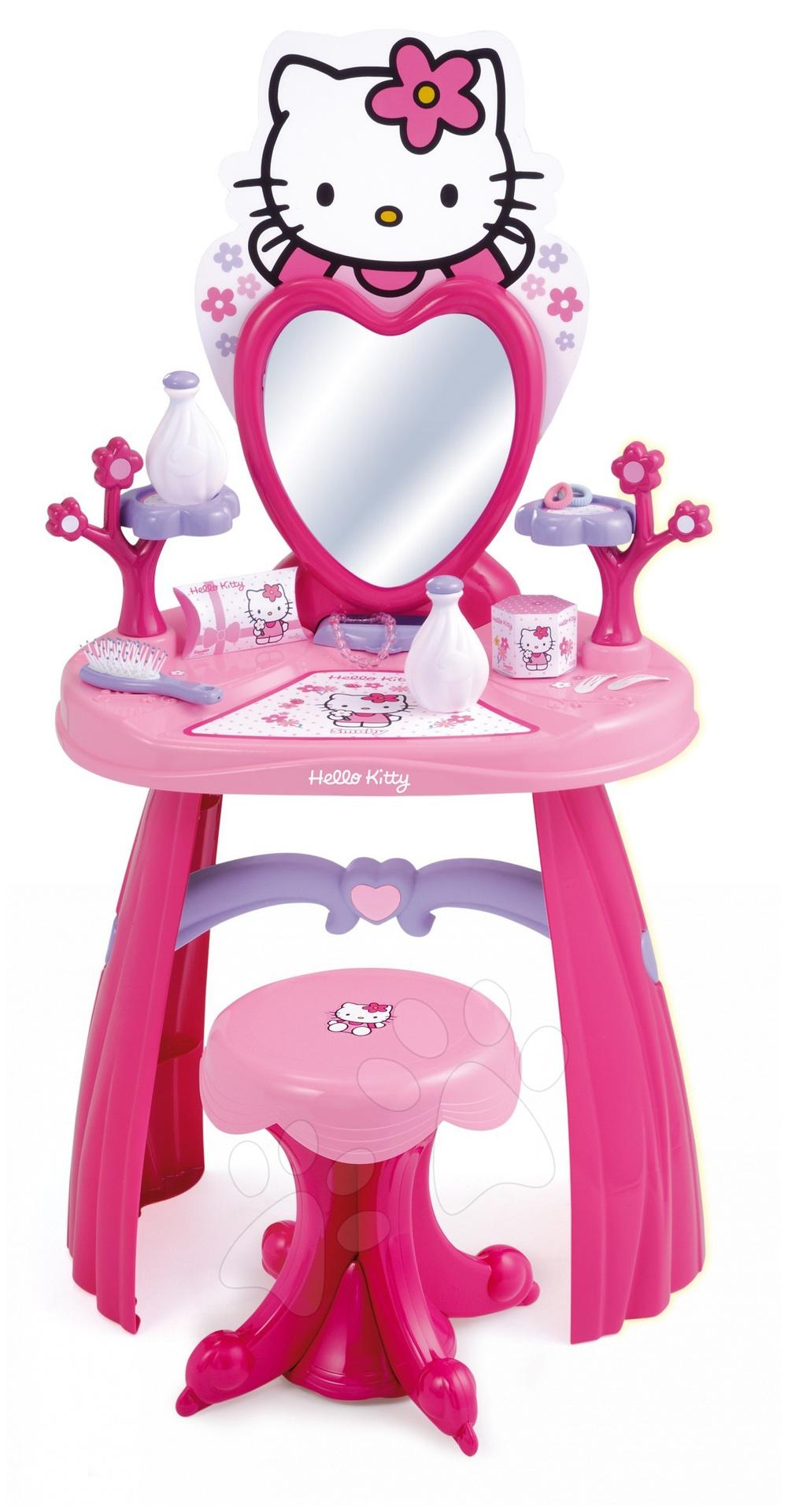 Staré položky - Hello Kitty kadernícky stolík Smoby so stoličkou