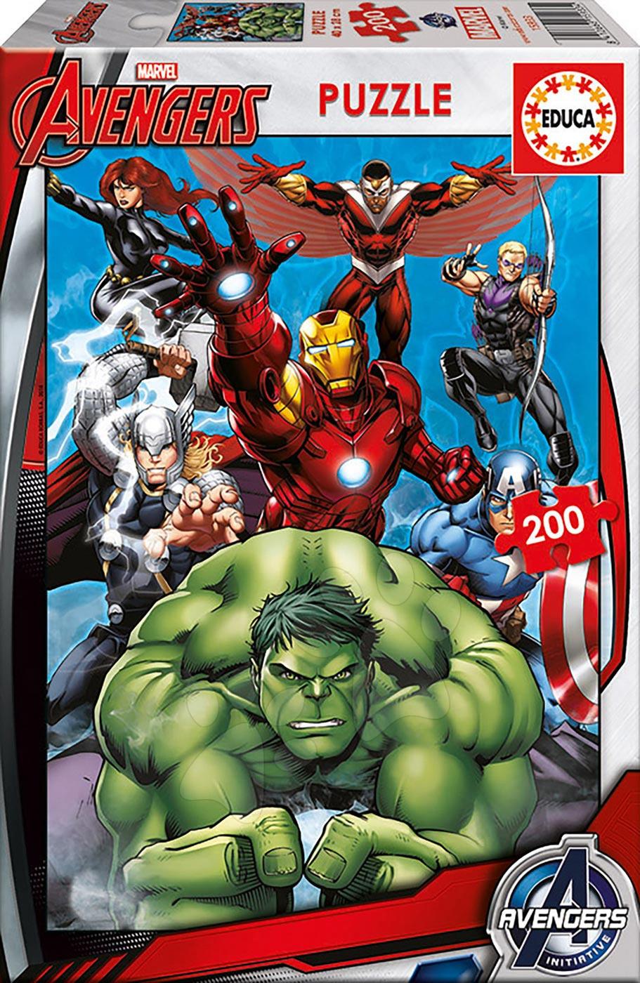 Detské puzzle od 100-300 dielov - Puzzle Avengers Educa 200 dielov od 6 rokov