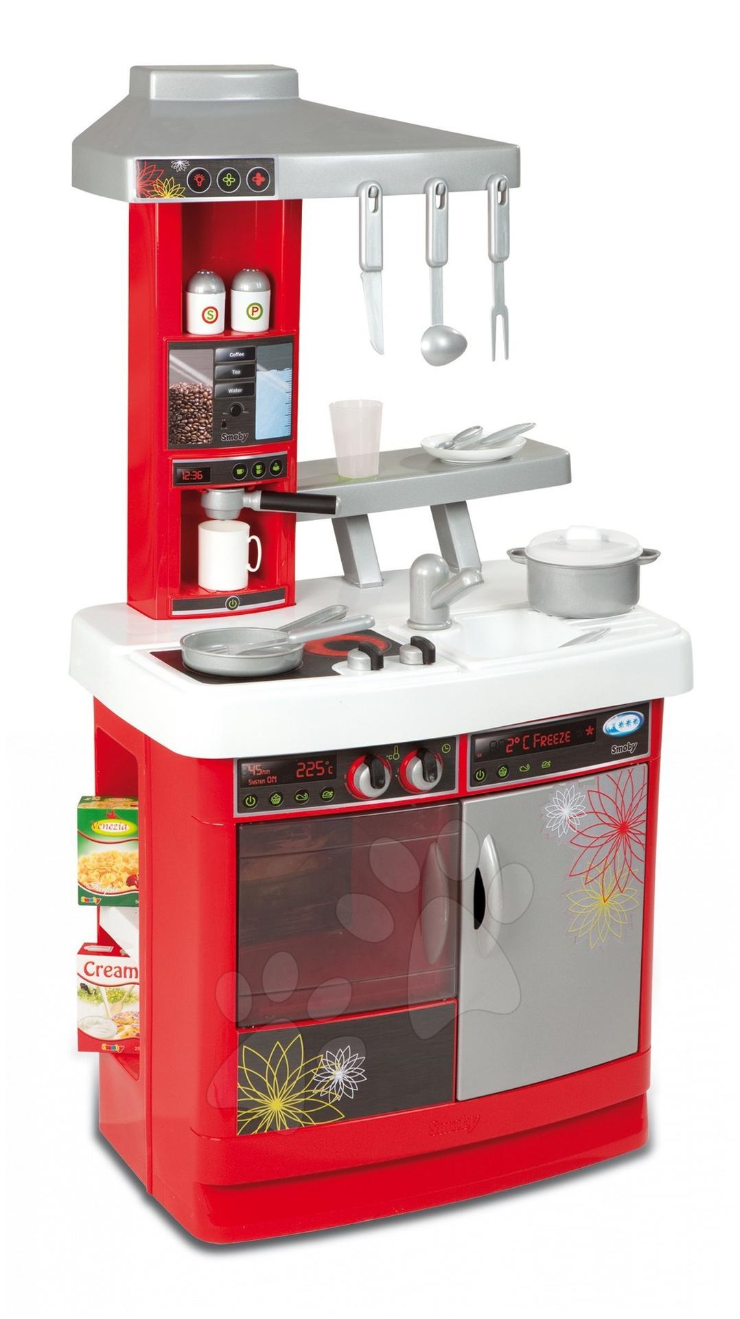 Bucătăria de jucărie Bon Appetit Cherry Smoby roșu cu 18 accesorii