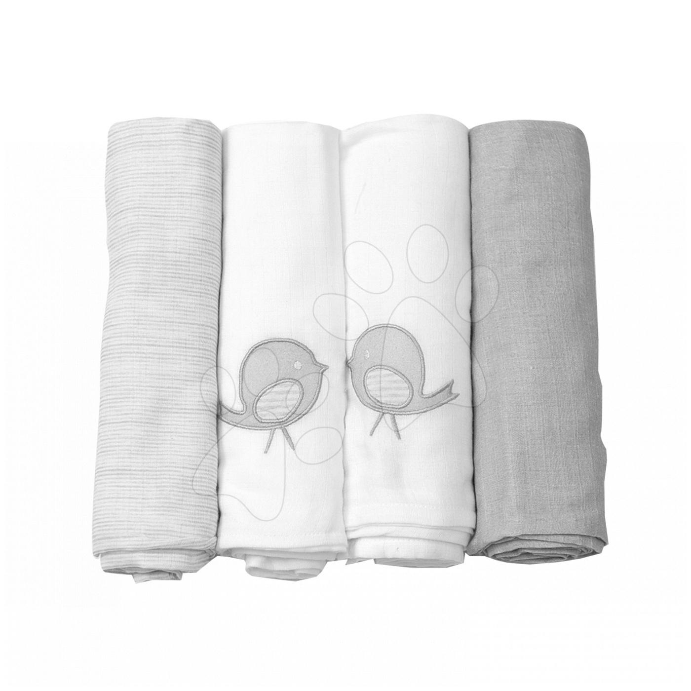 Bavlněné pleny toTs-smarTrike extra velikost 4 kusy 100% přírodní bavlna šedé od 0 měsíců