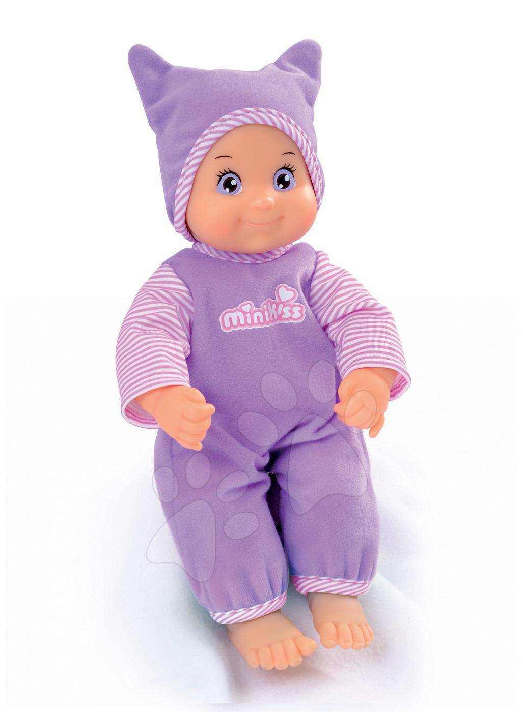 Minikiss panenka Tickle smějící se Smoby 27 cm od 12 měsíců