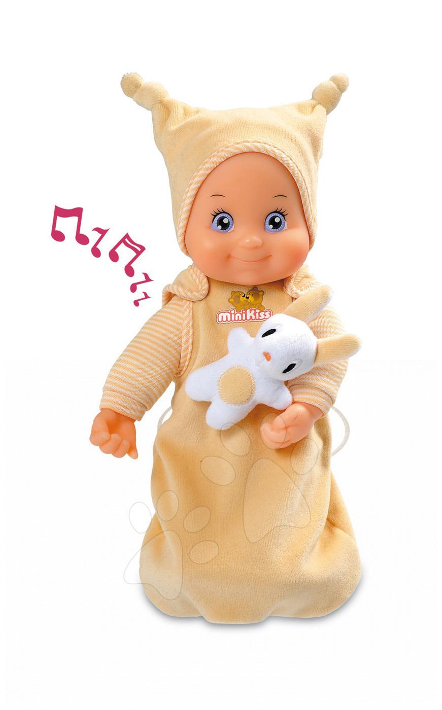 Păpuși de la 9 luni - Păpuşă de jucărie muzicală MiniKiss Smoby pentru pătuţ 27 cm de la 12 luni