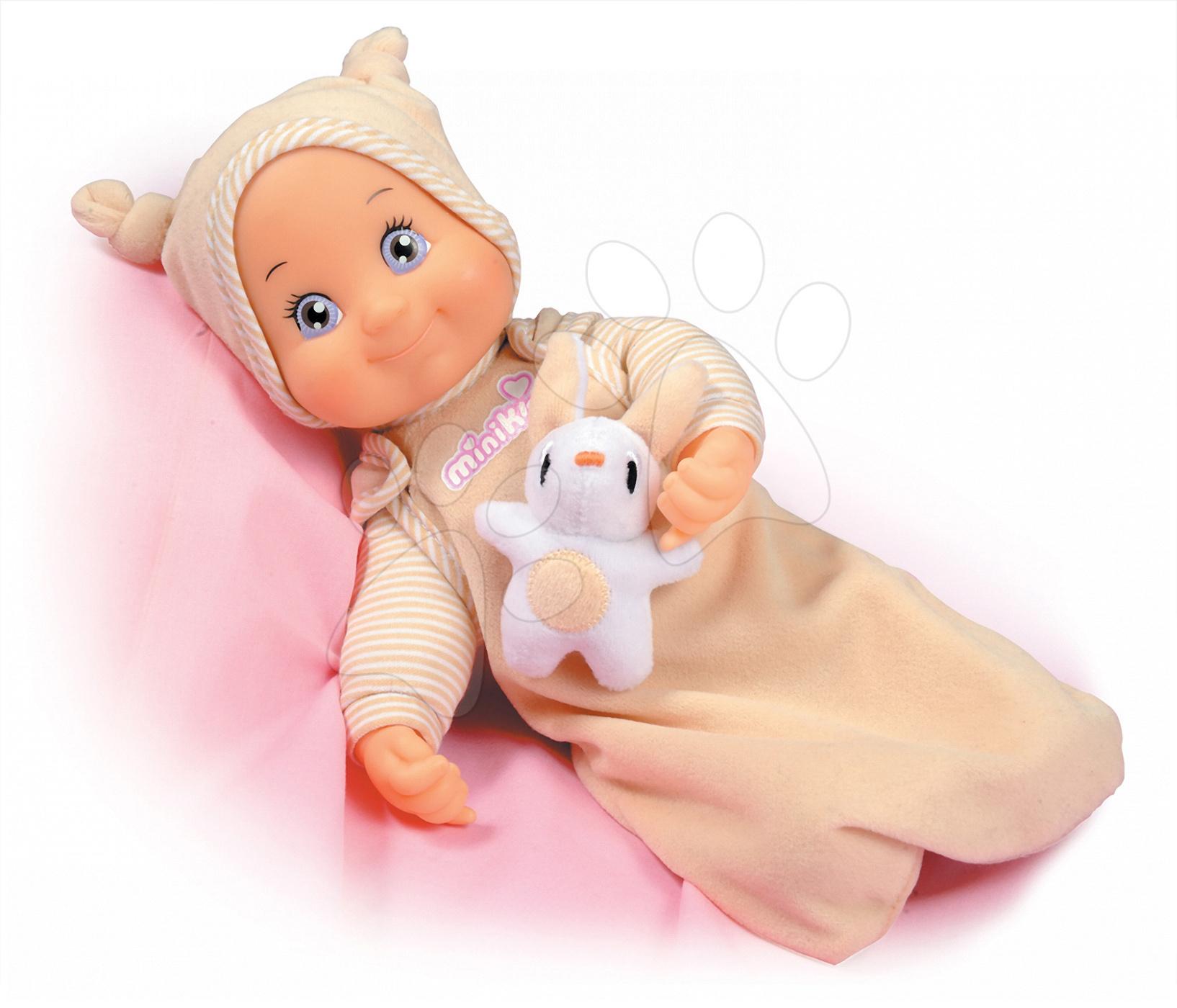 Bábiky od 9 mesiacov - Bábika s melódiou MiniKiss Smoby uspávajúca 27 cm od 12 mes