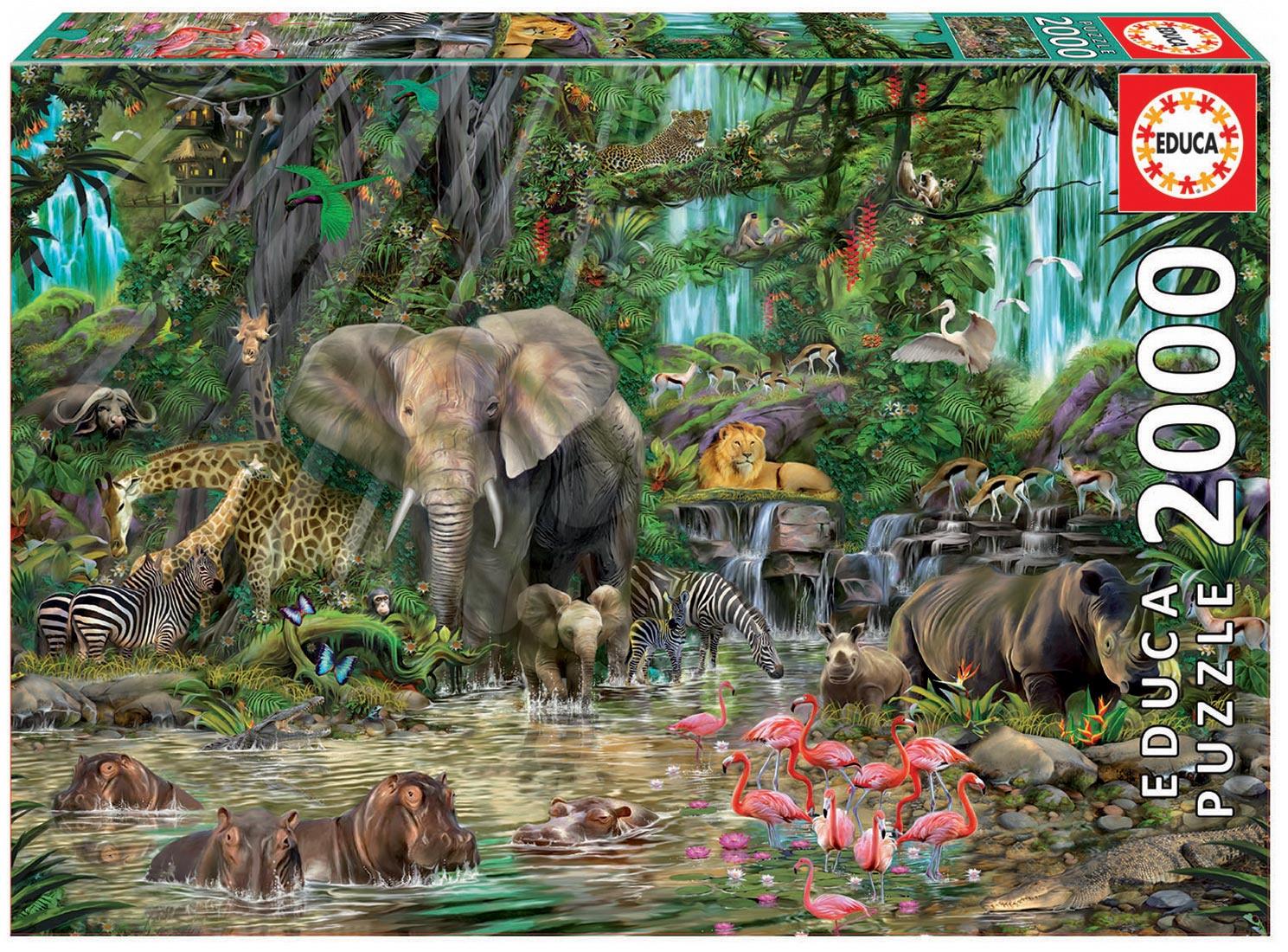 Educa Puzzle African Jungle 2000 dielikov 16013 farebné