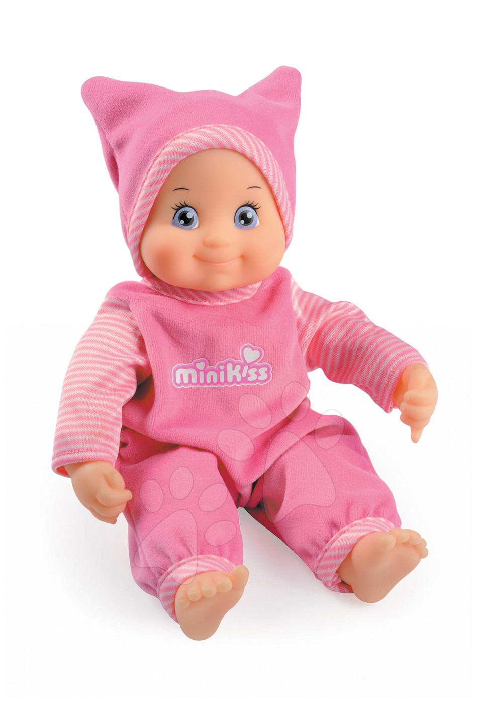 Smoby dětská zvuková panenka Minikiss 160151 růžová