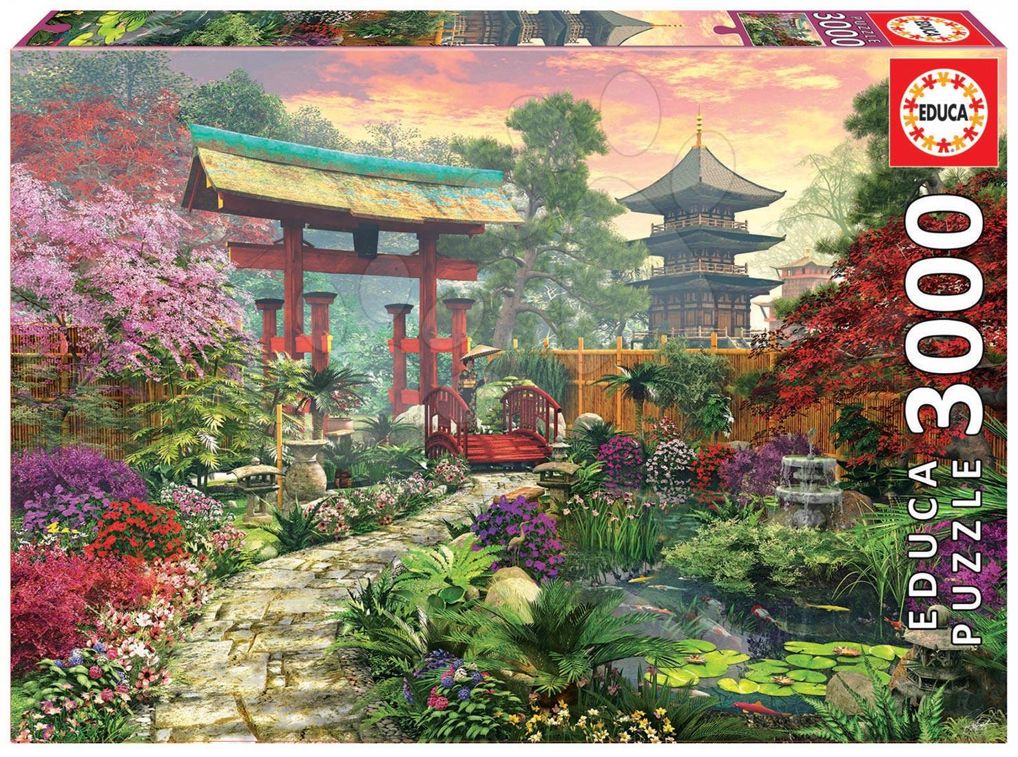 Puzzle 3000 dielne - Puzzle Genuine Japonská záhrada Educa 3000 dielov od 15 rokov