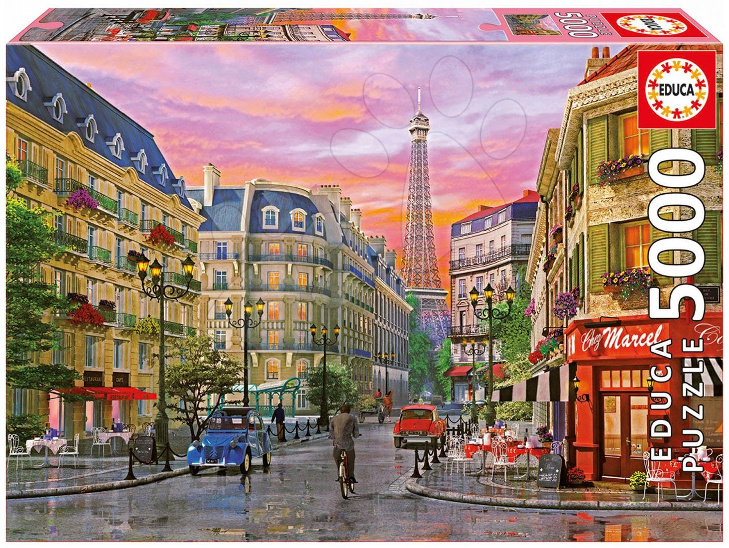 Puzzle D. H. Davison Rue Paris Educa 5000 db 15 évtől