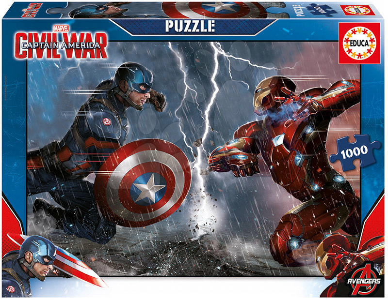 Puzzle 1000 dielne - Puzzle Captain America: Civil War Educa 1000 dielov od 12 rokov