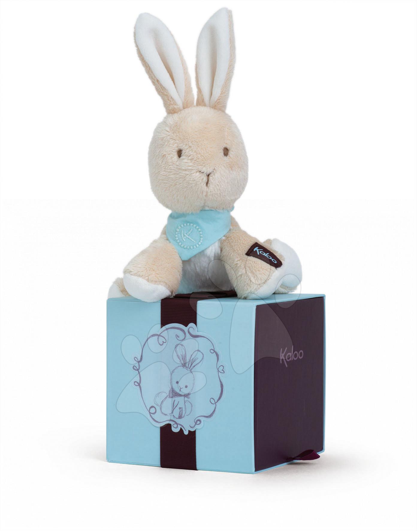 Hračky pre bábätká - Plyšový zajačik Praline Les Amis-Lapinou Kaloo 12 cm v darčekovom balení pre najmenších