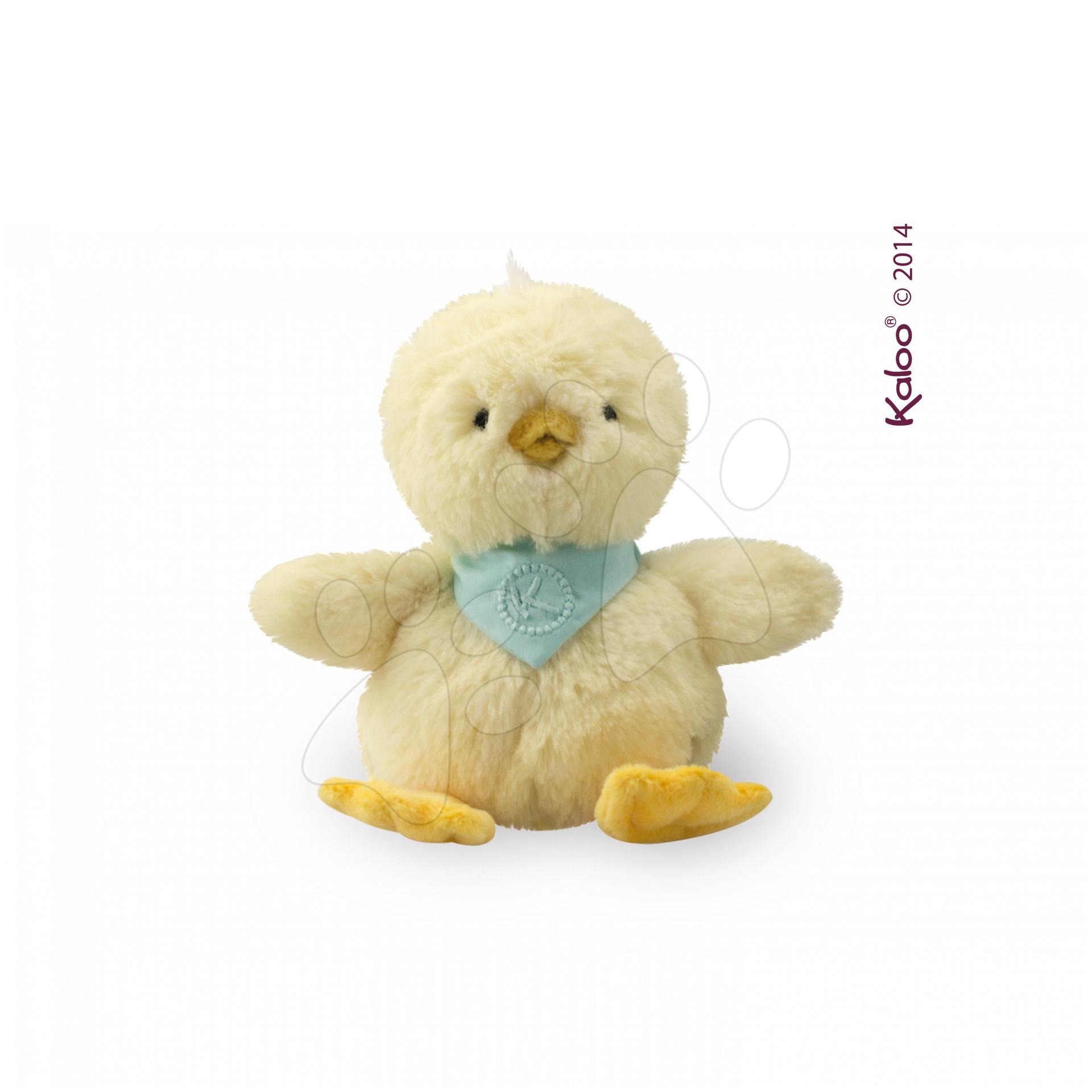 Plyšové zvieratká - Plyšové kuriatko Lemon Les Amis–Poussin Kaloo 12 cm v darčekovom balení pre najmenších