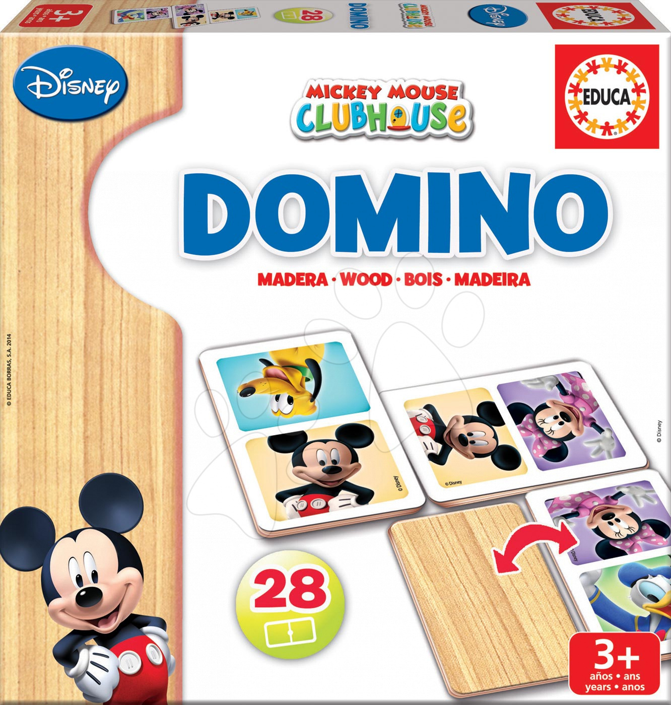 Educa detské domino z dreva Mickey Mouse s priateľmi 28 ks 16037