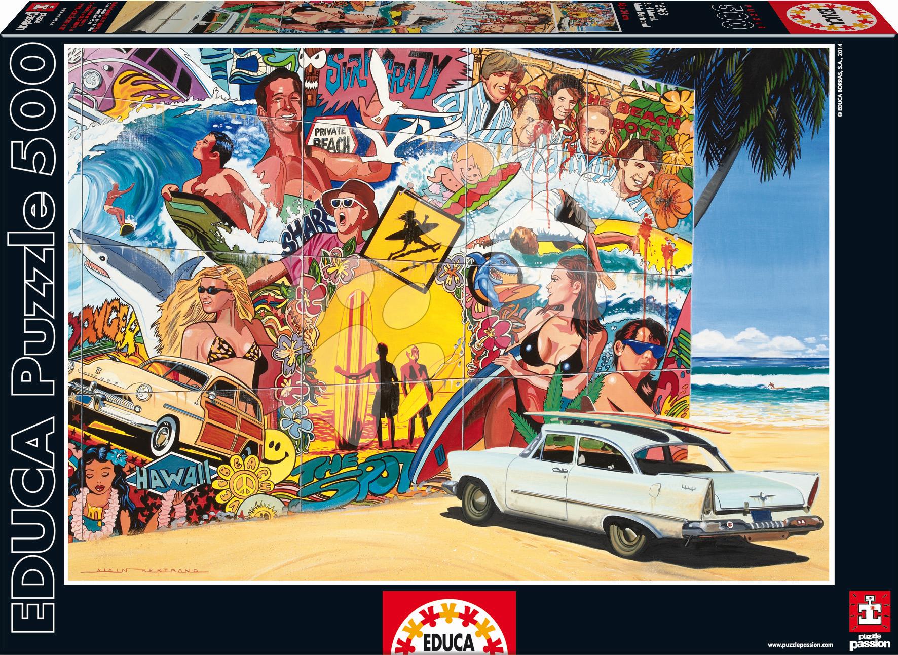 Educa Puzzle Genuine Surf Mural 500 dielov 15968 farebné