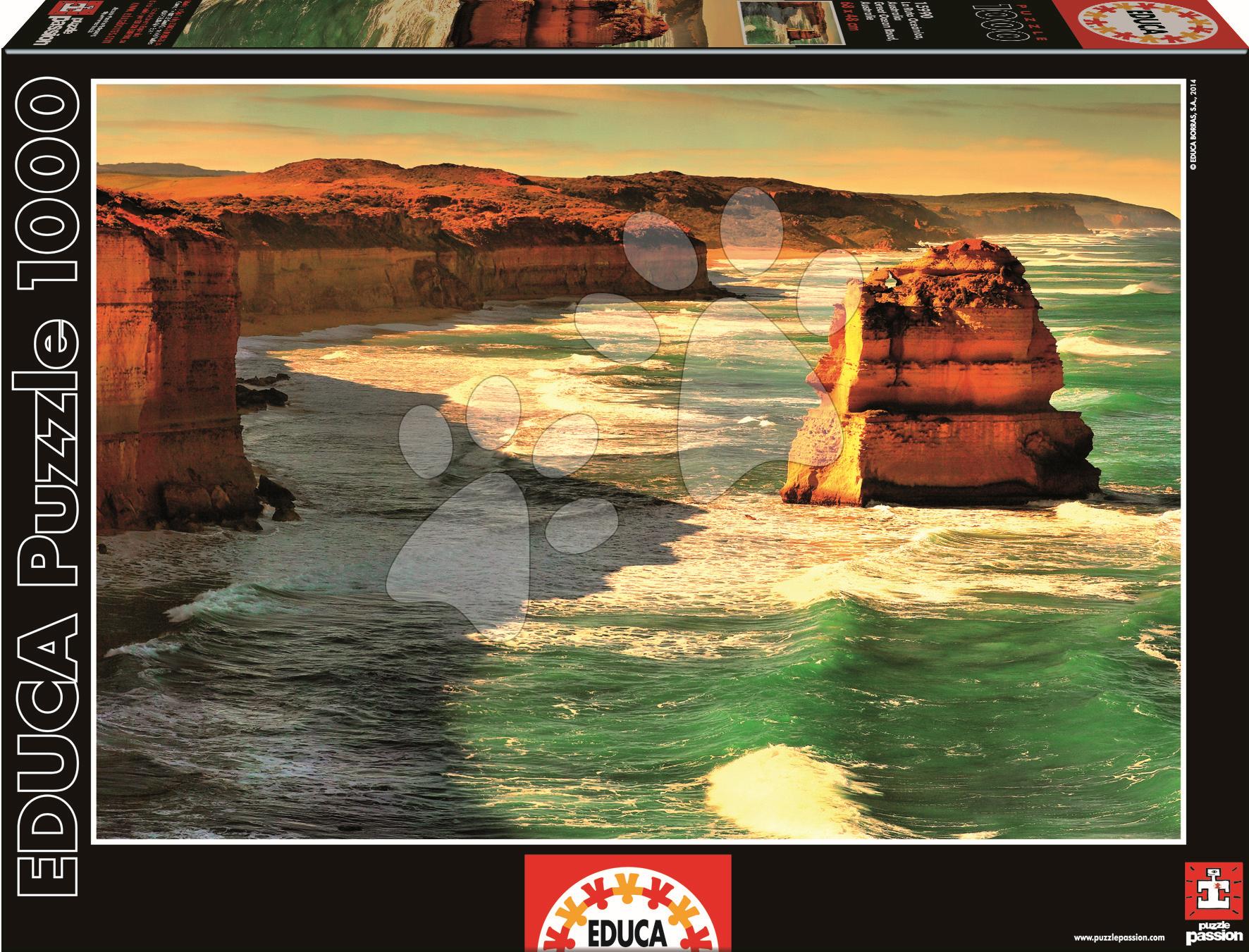 Puzzle 1000 dielne - Puzzle Genuine Great Ocean Road Educa 1000 dielov od 12 rokov