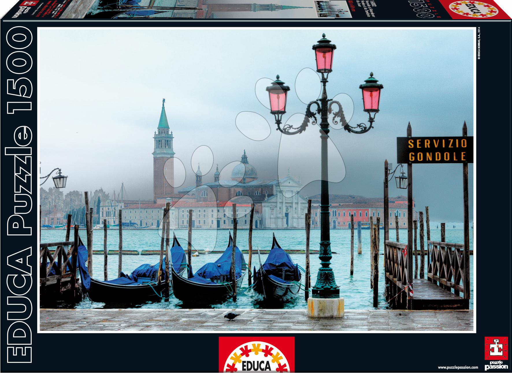 Puzzle 1500 dielne - Puzzle Benátky za súmraku Educa 1500 dielov