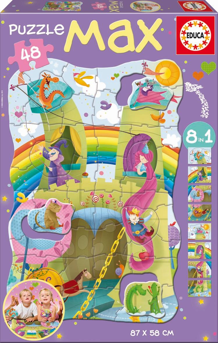 Dětské skládací koberce - Puzzle Giant Princezna a rytíř Educa 48 dílů