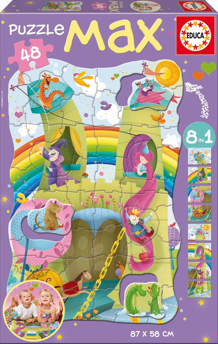 Puzzle Giant Princezna a rytíř Educa 48 dílů