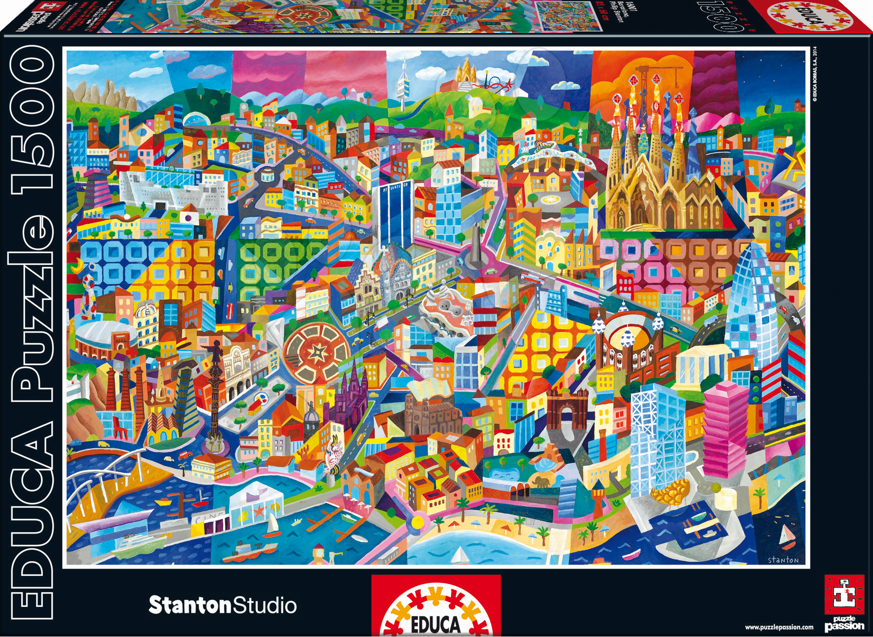 Puzzle 1500 dielne - Puzzle Barcelona, Philip Stanton Educa 1500 dielov