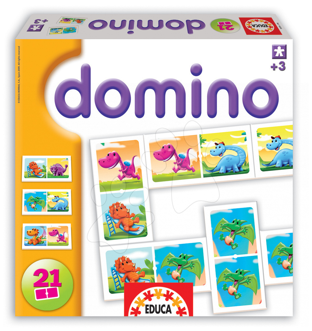 DOMINO Dinosaurus Educa 21 ks