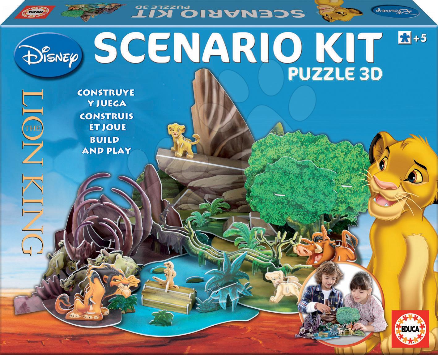 3D puzzle Leví kráľ Educa progresívne od 5 rokov