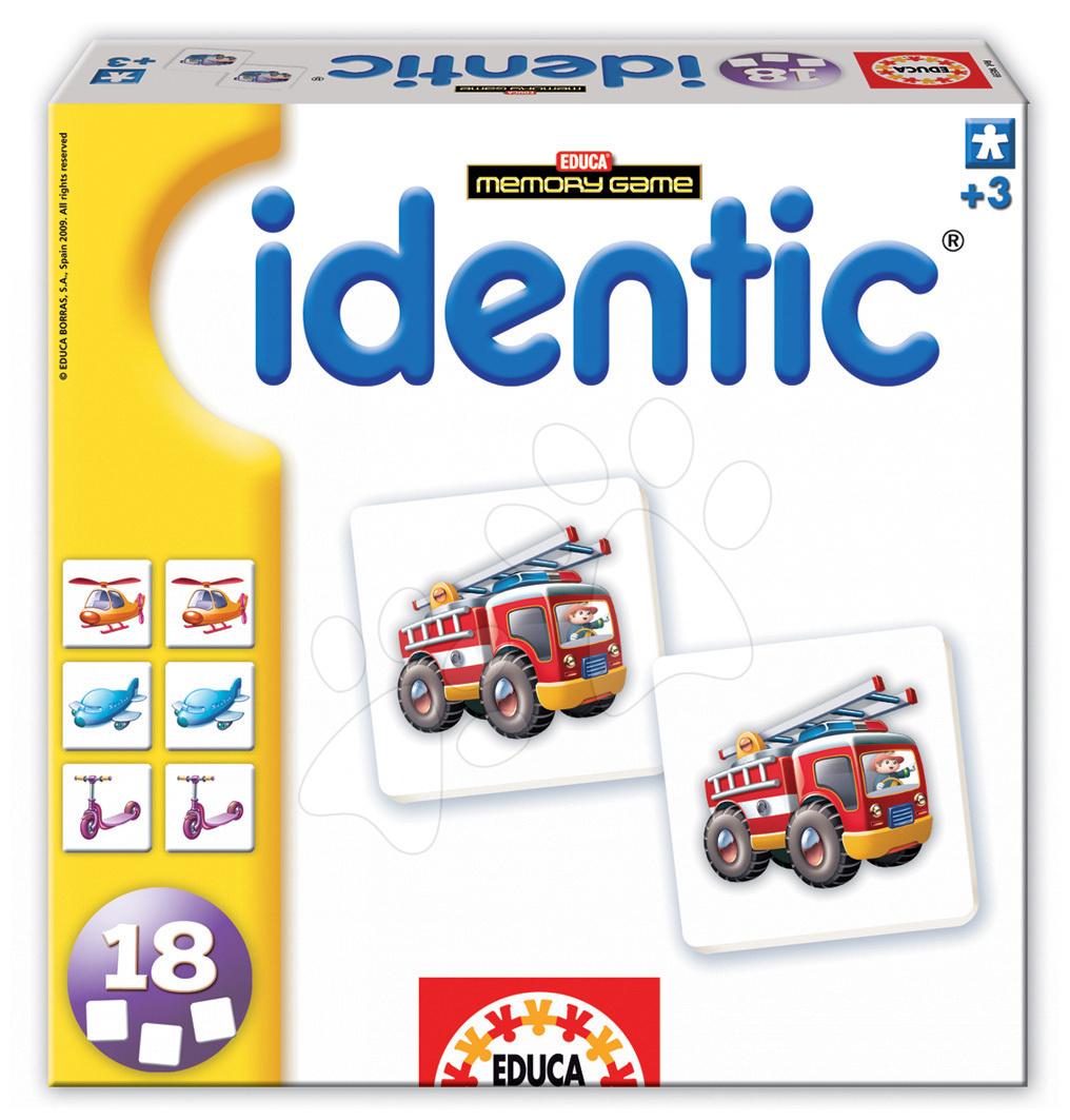 Pexeso - uzzle Identic Vehicle cards pexeso Educa 18 ks