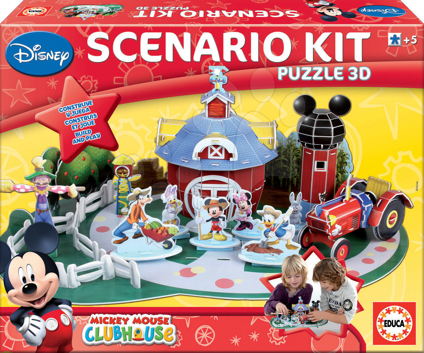 Progresívne detské puzzle - 3D puzzle Mickey Mouse Educa od 5 rokov
