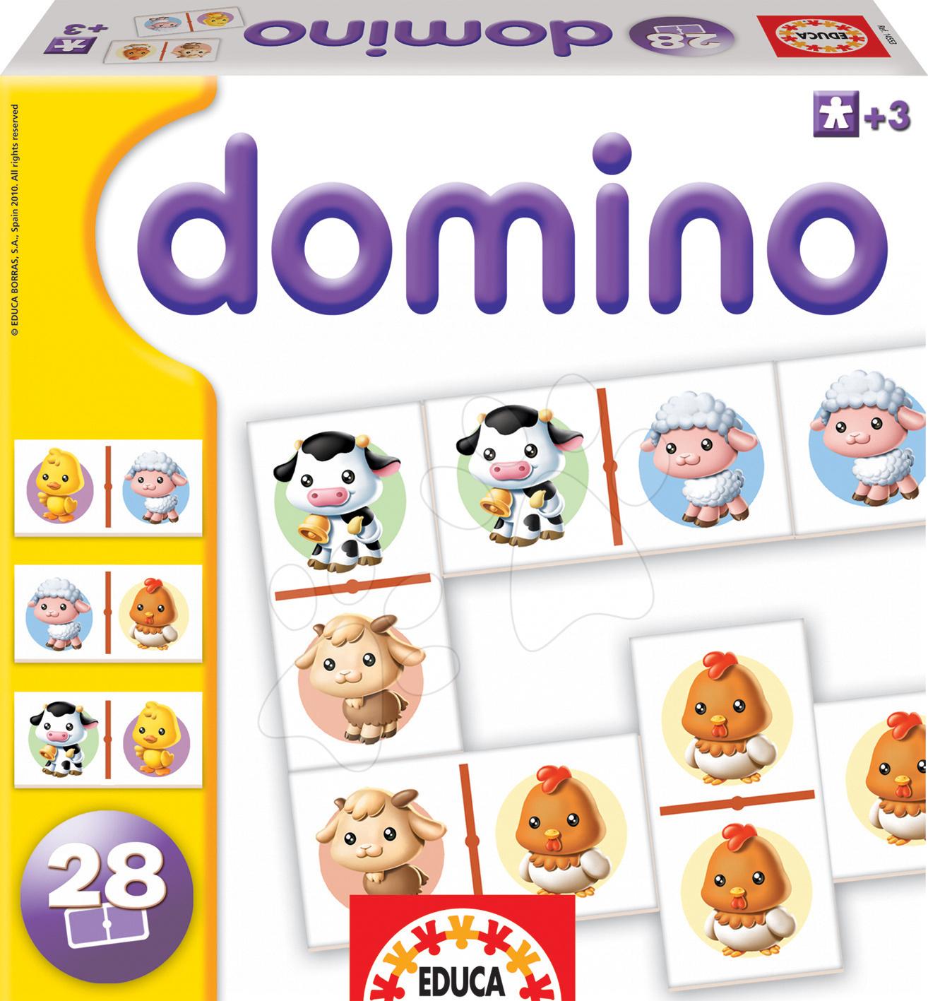 Hra pro nejmenší Domino Baby zvířátka Educa 28ks