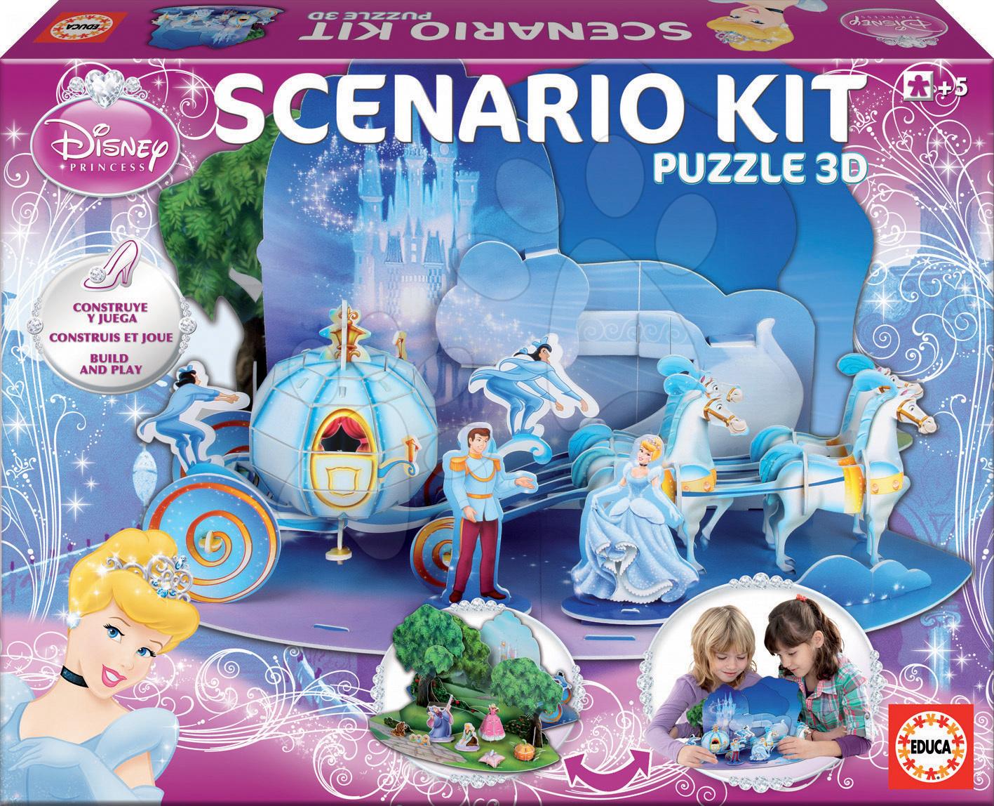 Scenario 3D puzzle Popoluška Educa