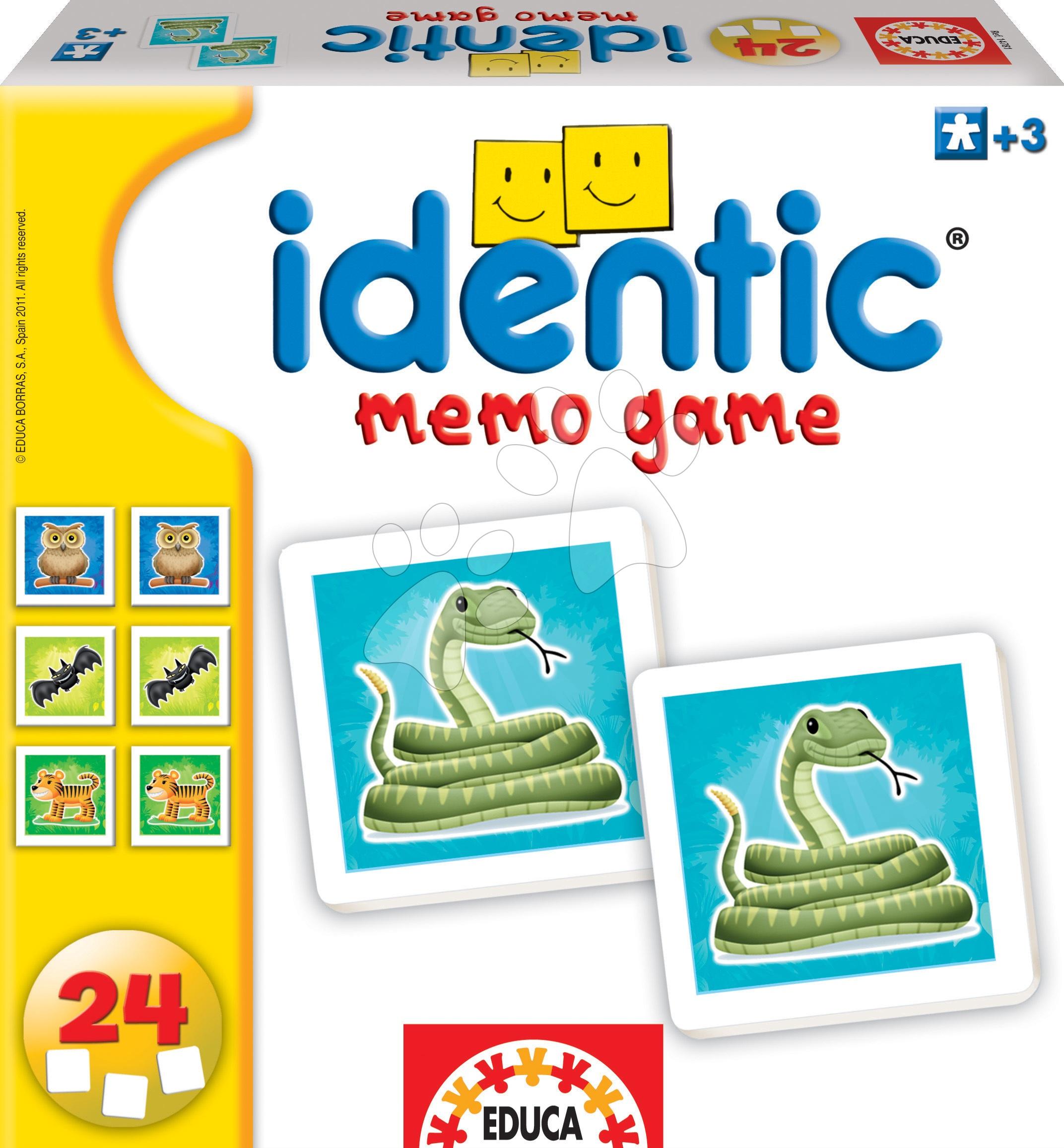 Pexeso Identic Memo Game Educa 24 ks so zvieratkami