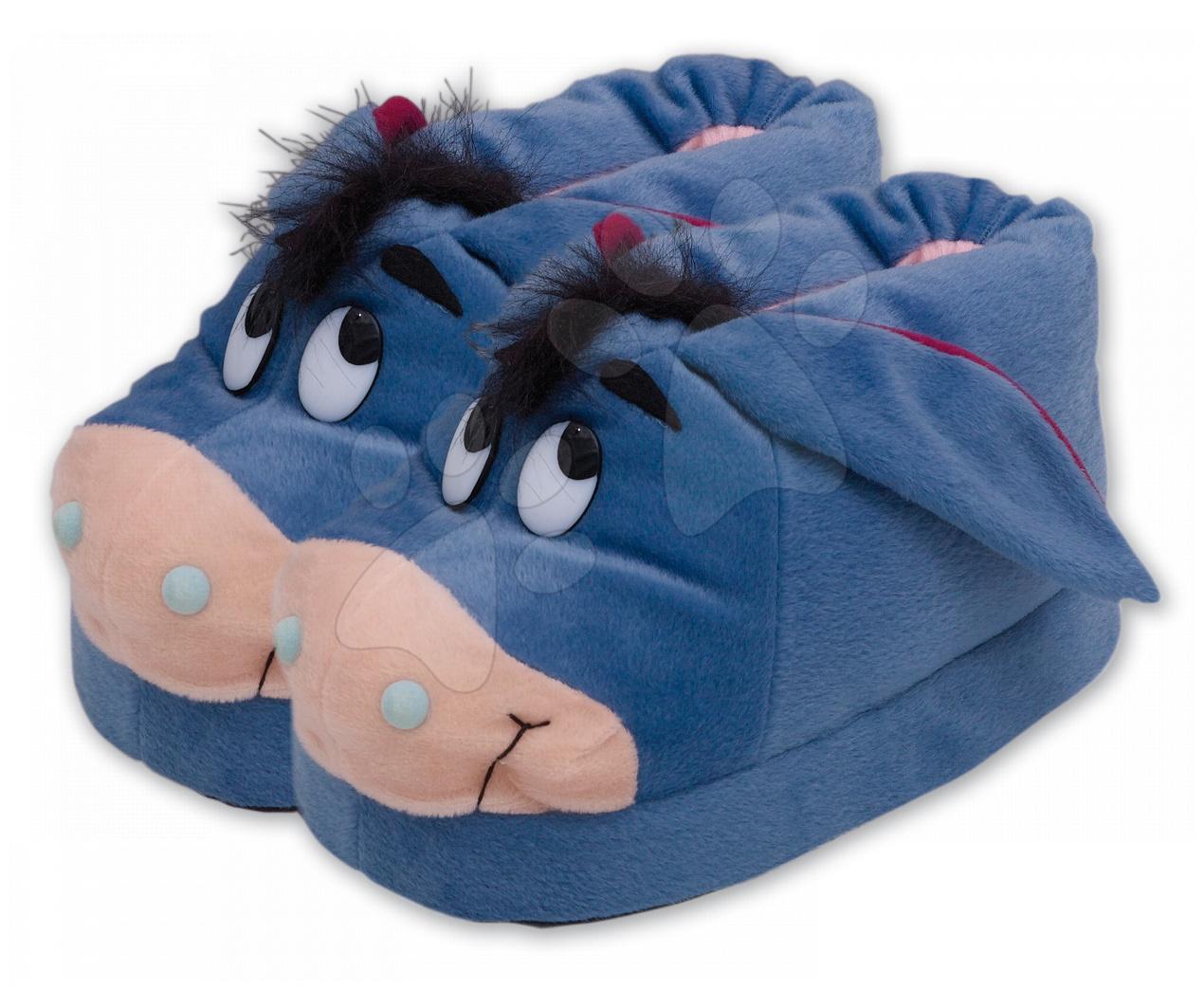 Staré položky - Plyšové papuče Macko Pooh - Somárik Ilanit veľkosť 33-35
