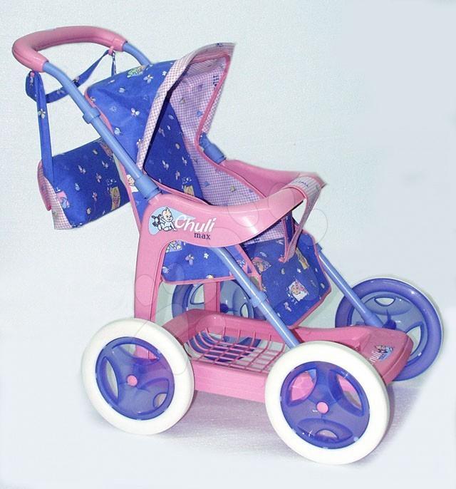 Kočárek Chula Max sportovní Smoby s taškou modro / růžový