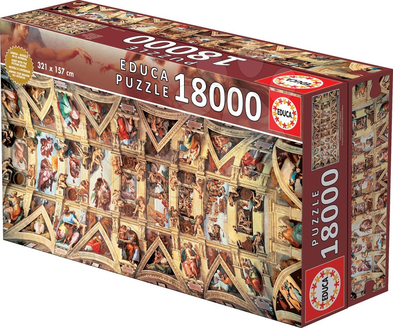 EDUCA 16065 Puzzle Genuine Sixtine Chapel, 18000 ks