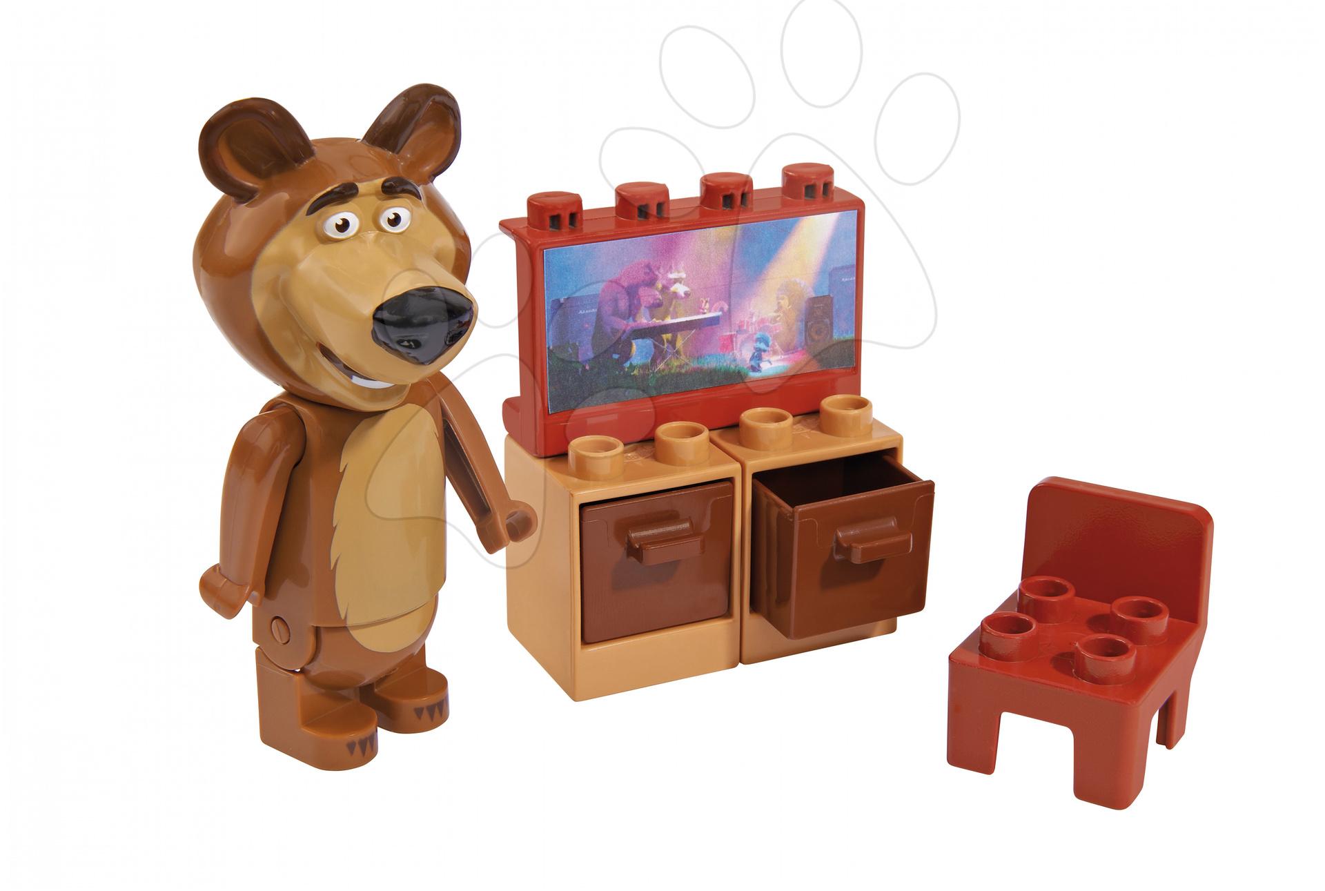 Stavebnice BIG-Bloxx ako lego - Stavebnica Miša v obývačke s TV PlayBIG Bloxx BIG 7-11 dielov od 1,5-5 rokov