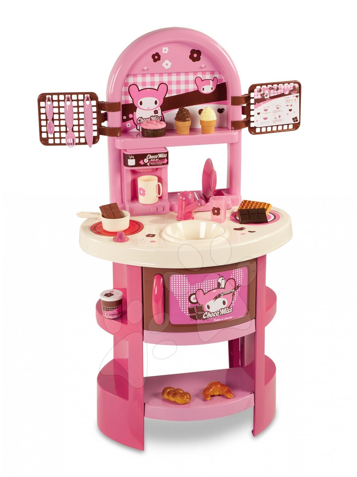 Kuchyňka Choco Miss Smoby růžová a 20 doplňků