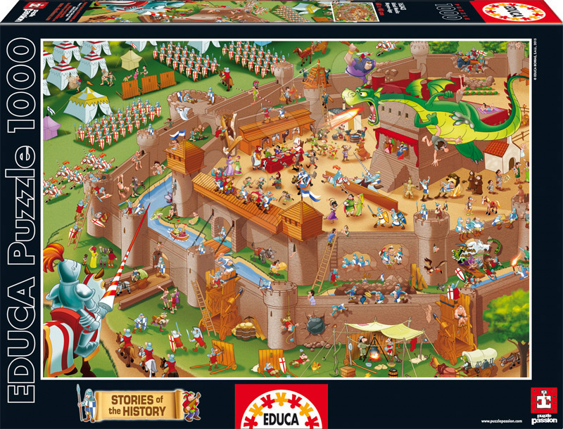 Puzzle Historias De La Historia Middle Ages Educa 1000 dílů od 12 let