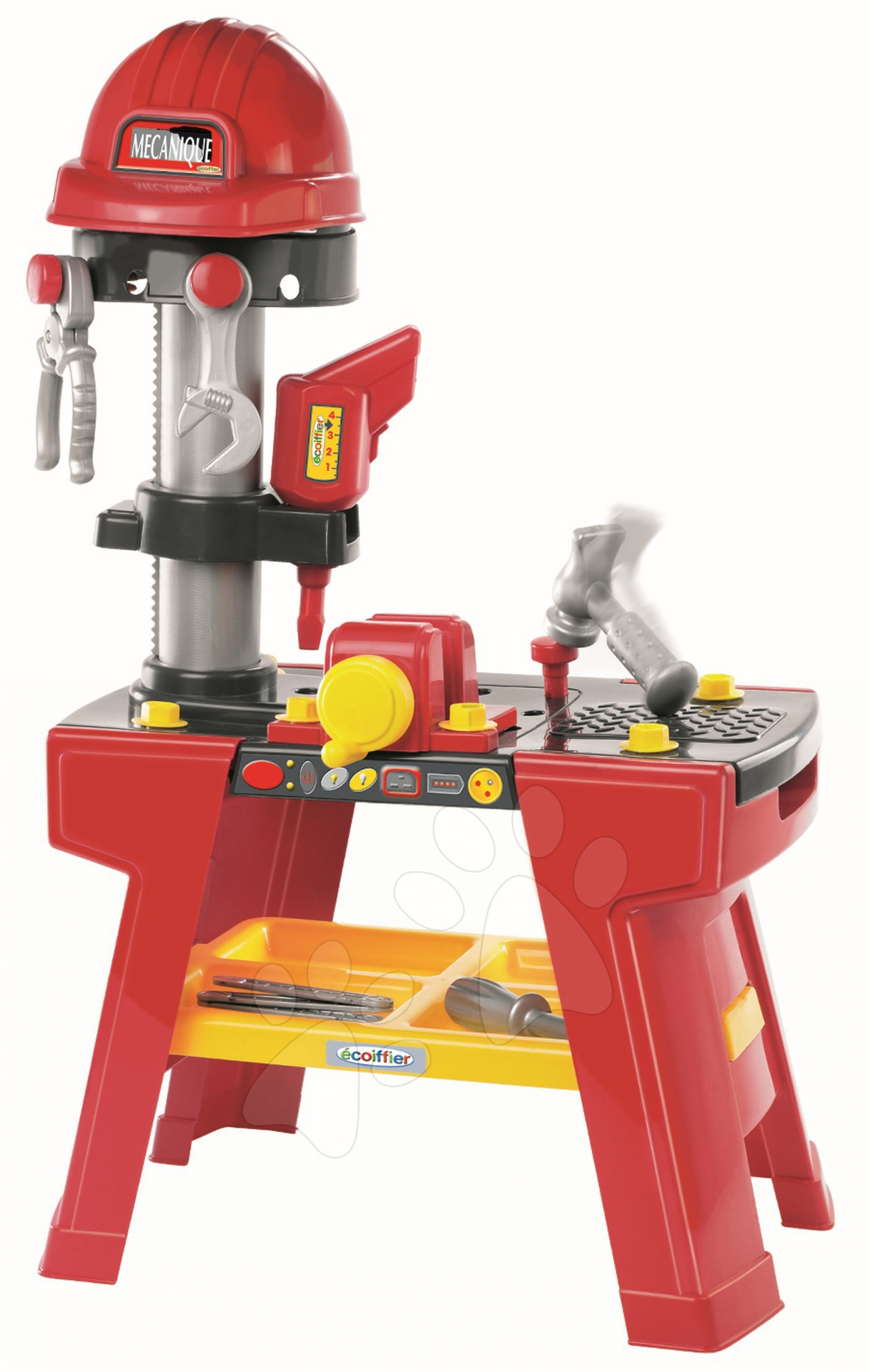 Staré položky - Mecanique Pracovní stolek s vrtačkou a nářadím Écoiffier a 25 doplňků