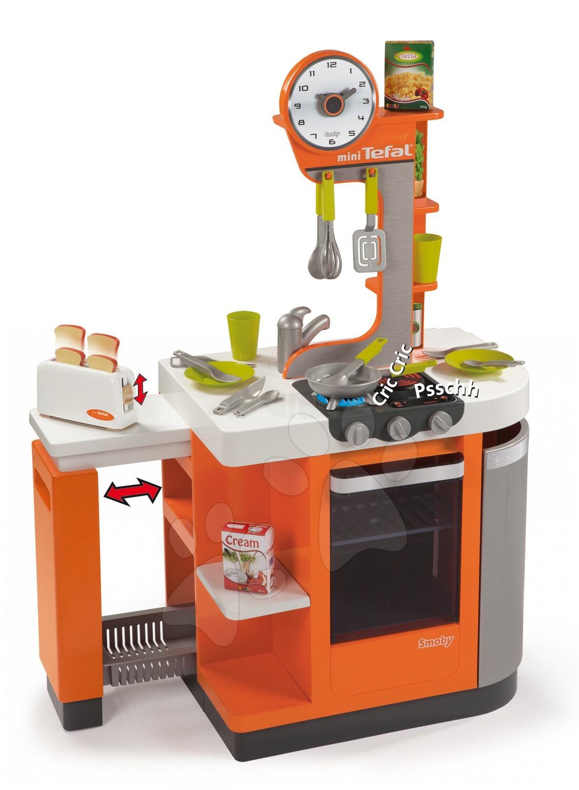 Bucătărie electronică Tefal Cool Party Smoby cu o înălțime de 101 cm