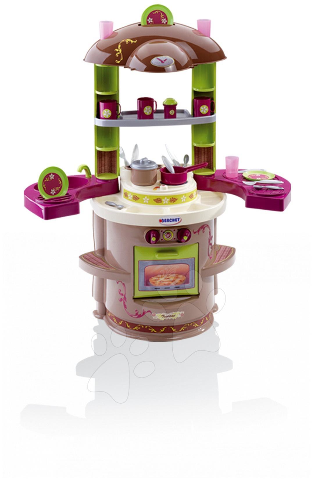 Régi termékek - Játékkonyha Ma Premier Tradition Smoby kihajtható szárnyakkal 18 darab kiegészítővel