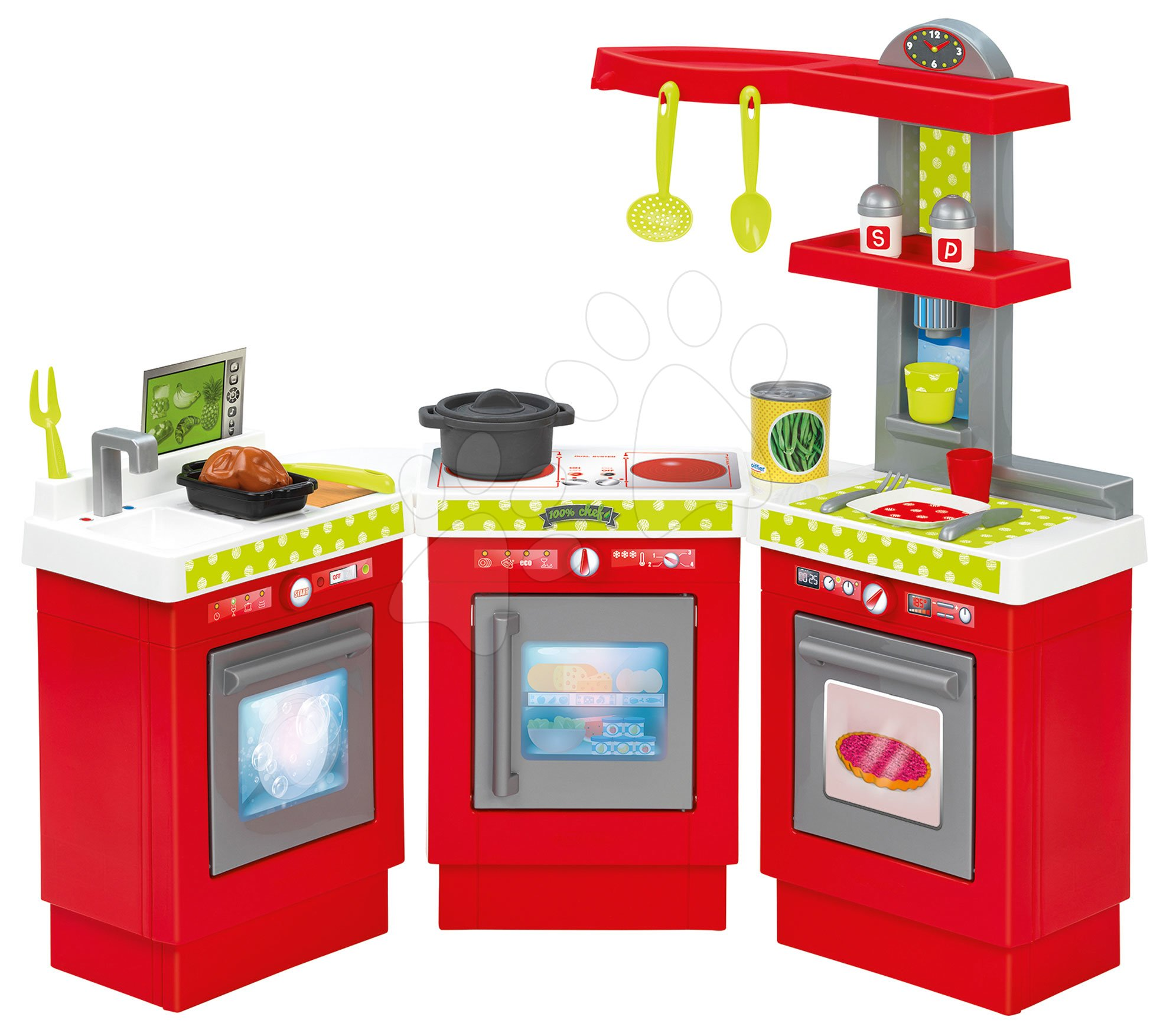 Kuchyňka 3 Modules 100% Chef Écoiffier třídílná s 21 doplňky od 18 měsíců