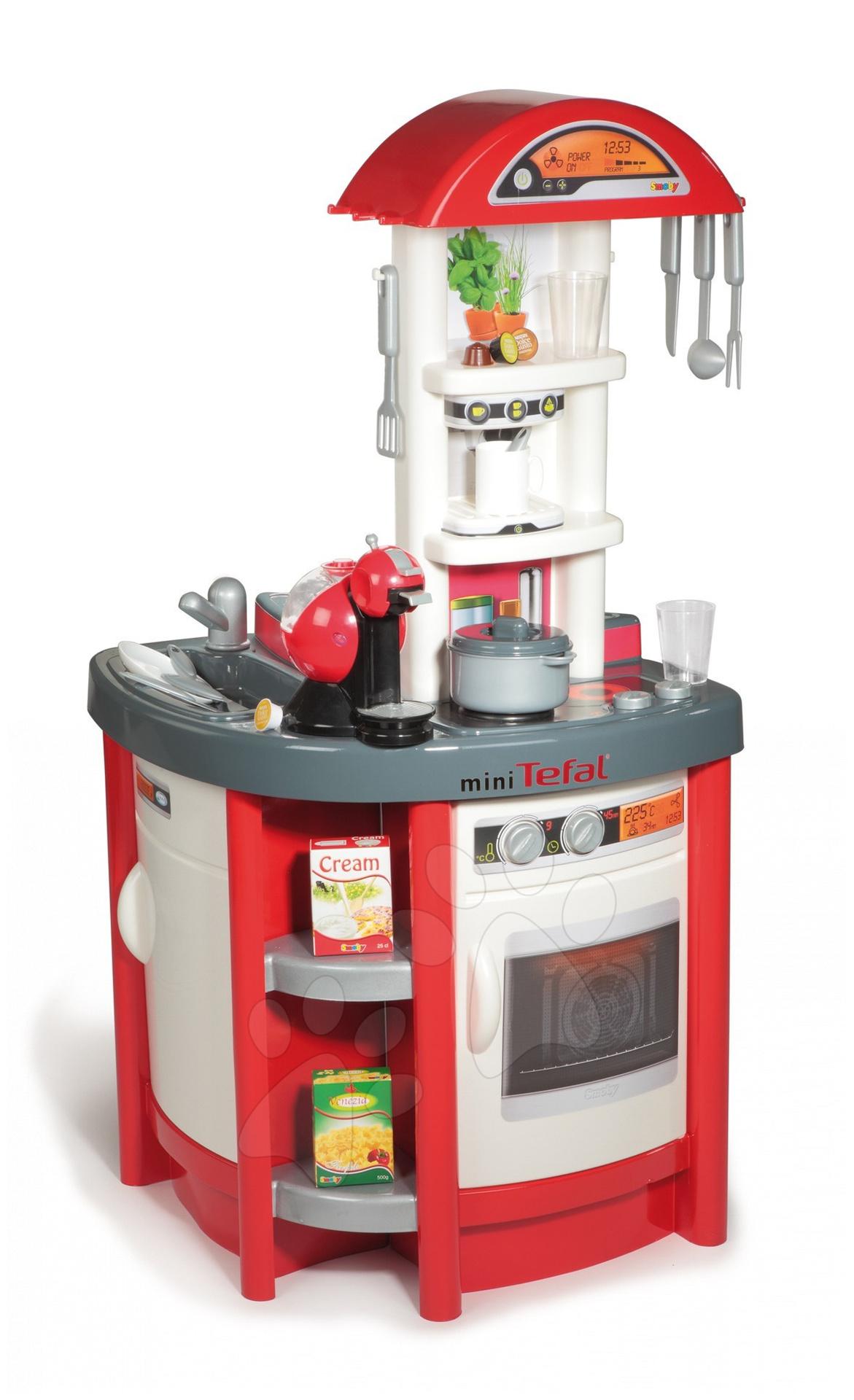 Kuchynka Studio Tefal Kitchen Smoby s kávovarom Dolce Gusto 99 cm vysoká s 19 doplnkami