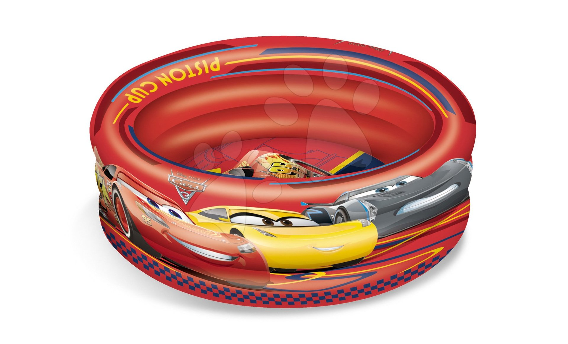 Detské bazéniky - Trojkomorový nafukovací bazén Cars Mondo 100 cm
